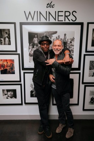 Arsenio Hall and Timothy White