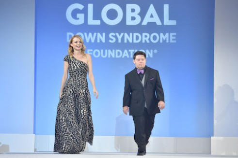 Award winning actress, Heather Graham with film star and Quincy Jones Advocacy Award recipient Zack Gottsagen at the Global Down Syndrome Foundation's 10th Anniversary Be Beautiful Be Yourself Fashion Show 2018. Photo: Tom Cooper/Getty Images for Global Down Syndrome Foundation