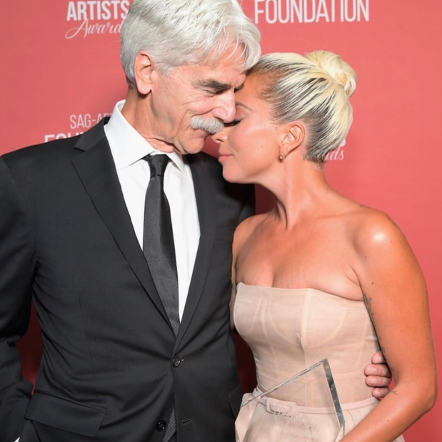 Sam Elliott and Lady Gaga arrive at the at the SAG-AFTRA Foundation Patron of the Artists Awards. Photo: Courtesy of SAG-AFTRA Foundation.