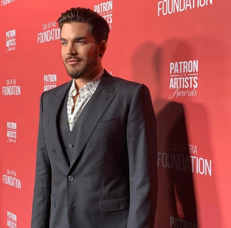 Adam Lambert arrives at the SAG-AFTRA Foundation Patron of the Artists Awards. Photo: Courtesy of SAG-AFTRA Foundation.