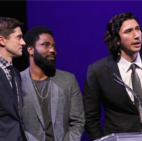 Topher Grace, John David Washington, Adam Driver at the SAG-AFTRA Foundation Patron of the Artists Awards. Photo: Courtesy of SAG-AFTRA Foundation.