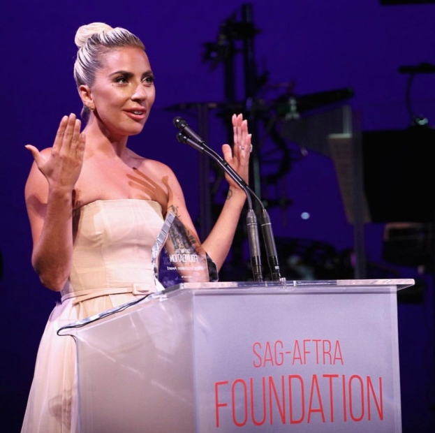 Lady Gaga at the SAG-AFTRA Foundation Patron of the Artists Awards. Photo: Courtesy of SAG-AFTRA Foundation.