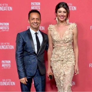 Ghalib Shiraz Dhalla and Pooja Batra arrive at the SAG-AFTRA Foundation Patron of the Artists Awards. Photo: Courtesy of SAG-AFTRA Foundation.