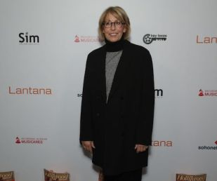 Carol Mendelsohn arrives at the Lantana Holiday Party. Photo: Brian To