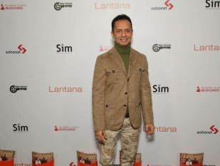 Ghalib Shiraz Dhalla arrives at the Lantana Holiday Party. Photo: Brian To
