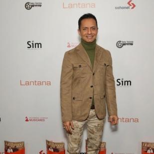Ghalib Shiraz Dhalla arrives at the Lantana Holiday Party. Photo: Brian To