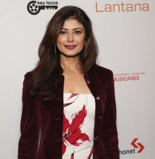 Pooja Batra arrives at the Lantana Holiday Party. Photo: Brian To