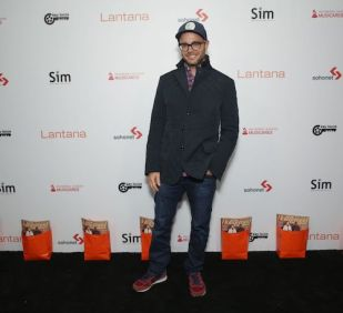 Damon Lindelof arrives at the Lantana Holiday Party. Photo: Brian To