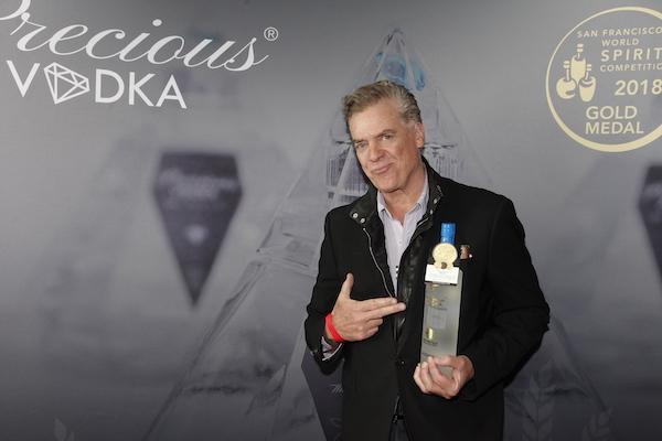 Christopher McDonald with presenting sponsor, Precious Vodka