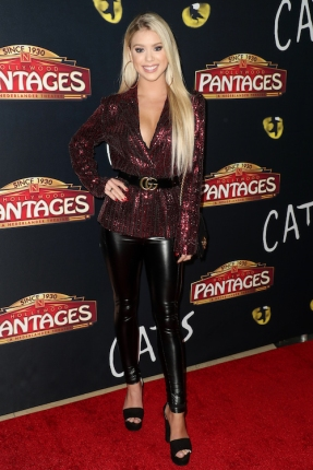 Kaylin Slavin attends 'Cats' opening night, Pantages Theatre, Los Angeles, USA