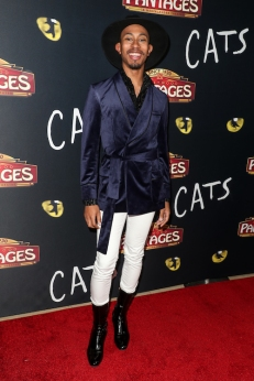Kalen Allen attends 'Cats' opening night, Pantages Theatre, Los Angeles, USA