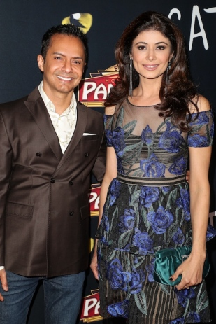 Ghalib Shiraz Dhalla and Pooja Batra attend 'Cats' opening night, Pantages Theatre, Los Angeles, USA