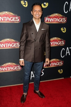 Ghalib Shiraz Dhalla attends 'Cats' opening night, Pantages Theatre, Los Angeles, USA
