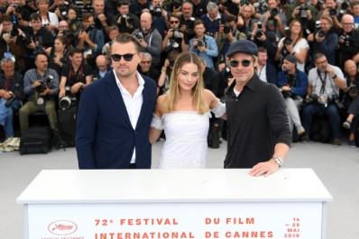 "CANNES, FRANCE - MAY 22: Leonardo DiCaprio, Margot Robbie and Brad Pitt attend the photocall for ""Once Upon A Time In Hollywood"" during the 72nd annual Cannes Film Festival on May 22, 2019 in Cannes, France. (Photo by Pascal Le Segretain/Getty Images)"