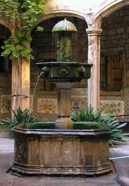Courtyard Fountain at the Casa de l'Ardiaca